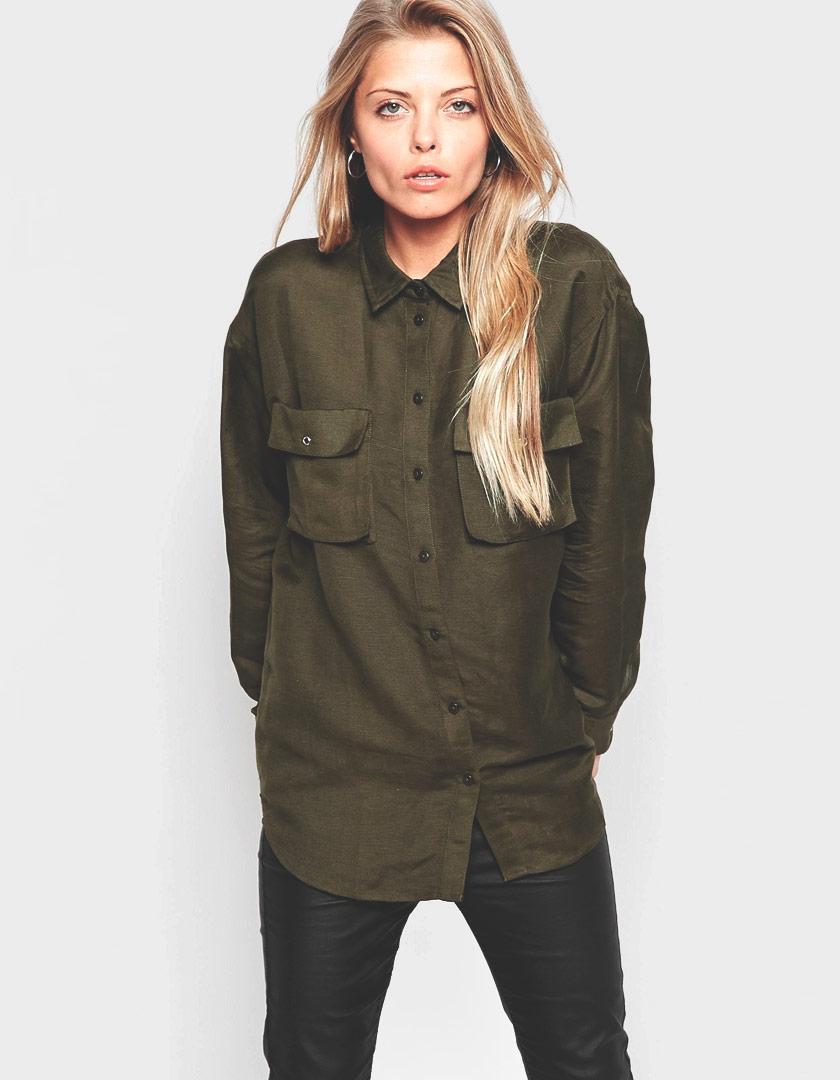 online store a3663 1dccc Camicia verde militare